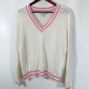 Tommy Hilfiger 1X Sweater V Neck Light Weight Ribb